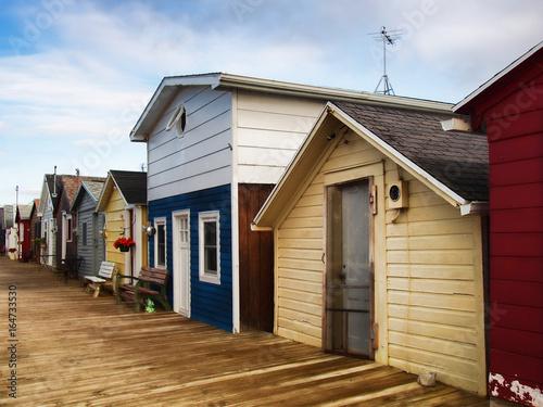 Leinwand Poster Boathouses on Canandaigua Lake