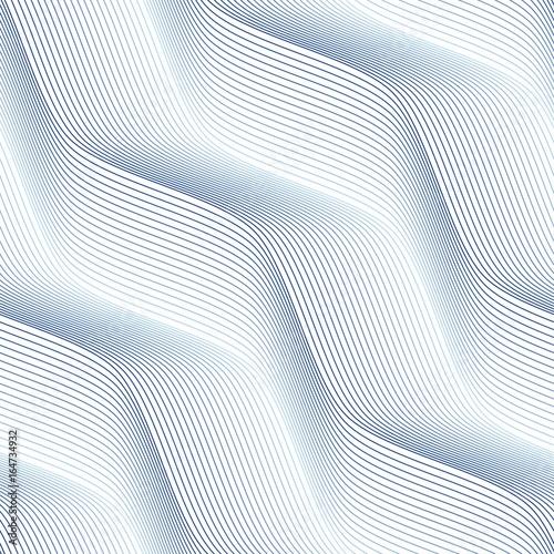 Vector seamless pattern. Modern stylish texture. Geometric pattern with thin blue threads