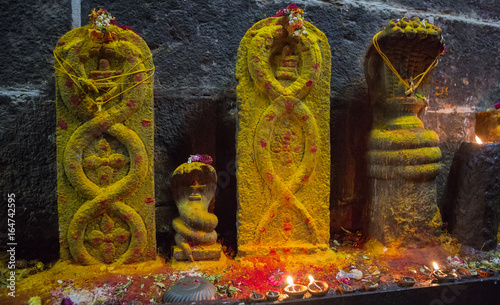 Arunacheshvara Temple. Candle flame close-up in the Indian Shiva Temple.