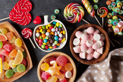 Foto op Plexiglas Snoepjes Colorful candies, jelly and marmalade