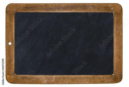 Alte Kreidetafel isoliert auf weißem Hintergrund Fototapete