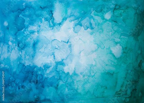 Türaufkleber Darknightsky Abstrakter Hintergrund aus blauer und grüner Farbe mit Vignette, Aquarell