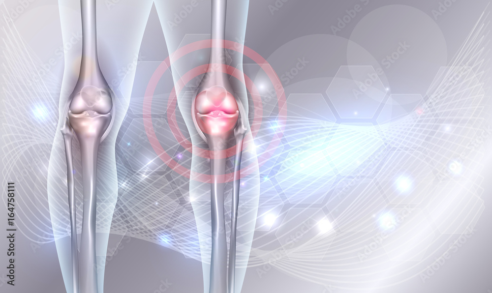Fototapety, obrazy: Joint treatment abstract background with beautiful glow and wave at the background