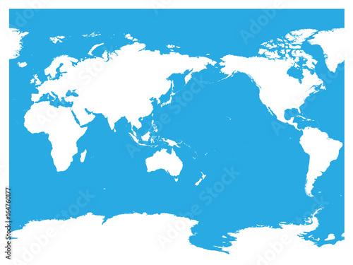 Fotografía  Australia and Pacific Ocean centered world map