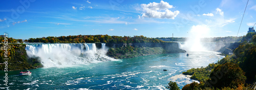Fotografie, Obraz Panoramic view of  Niagara falls