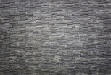 Black Slate Wall Texture And Background. Interior Or Exterior Decoration