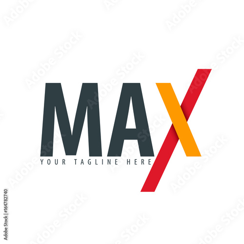 Photo  Initial Letter Max Design Logo