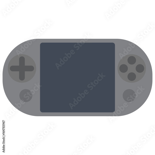 Portable Home Video Game Console Vector Illustration Flat Style
