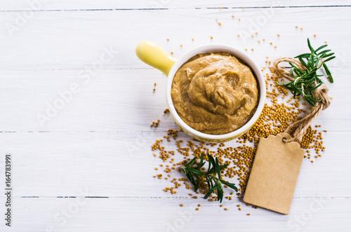 Homemade spicy mustard sauce Fototapeta