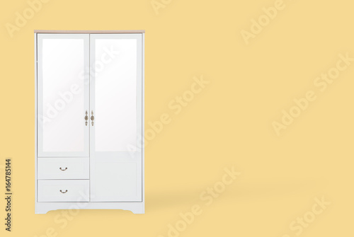 Fototapety, obrazy: White wardrobe isolated on white background with space for copy.
