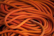 Orange Rope For Climbing.