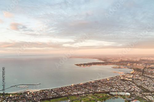 Photo Melboure bayside suburbs of Albert Park and South Melbourne