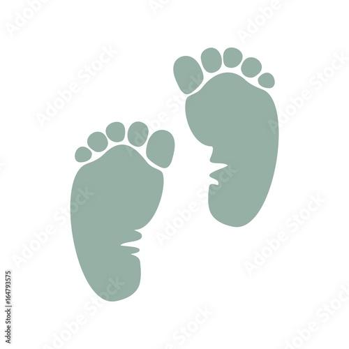 Fotografering  отпечаток ноги ребенка