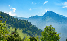 View Of Mountain In Haute Savoie, Alps, France