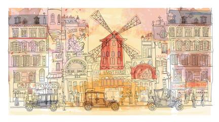 Pariz u akvarelu, Moulin rouge