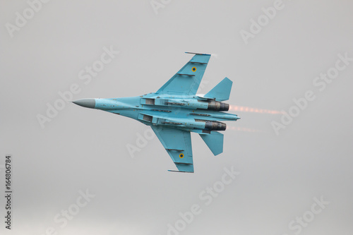su-27 flanker Russian fighter jet Fototapet