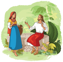 Jesus And The Samaritan Woman At The Well