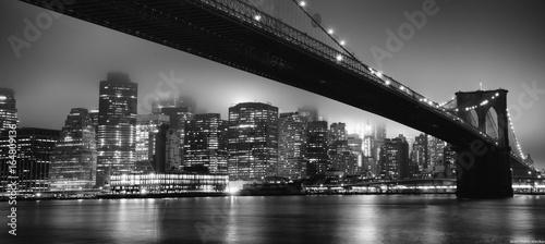 Fotografie, Obraz Skyline NYC - Brooklyn bridge
