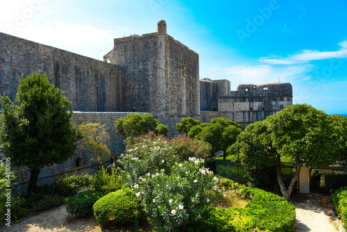 Garden Poster Fortification Dubrovnik city wall. Croatia.