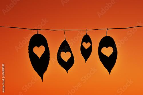 Valokuva  Yapraklar/kalp