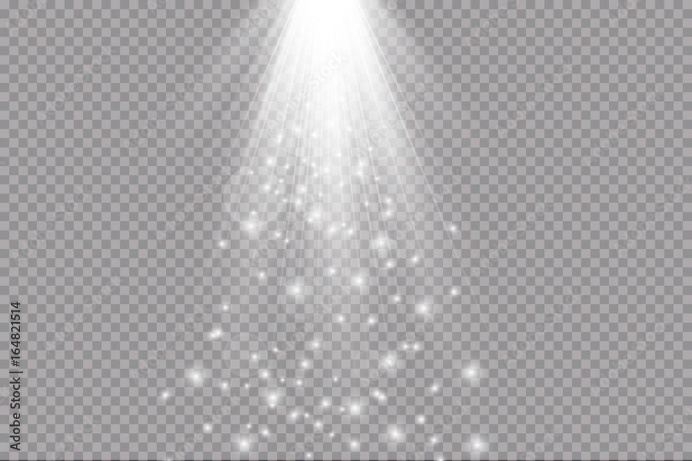 Fototapeta light beam isolated on transparent background. Vector illustration