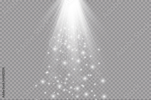 Obraz light beam isolated on transparent background. Vector illustration - fototapety do salonu