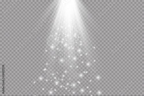 Fototapeta light beam isolated on transparent background. Vector illustration obraz