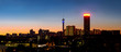 canvas print picture - Johannesburg night cityscape