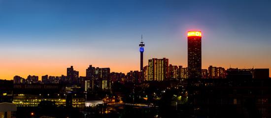 Fototapeta Johannesburg night cityscape