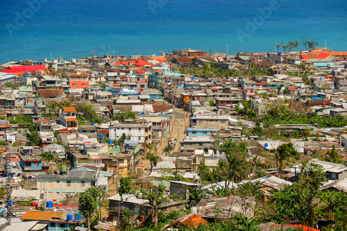 Canvas Print Aerial view of Baracoa in Cuba