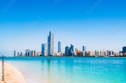 Abu Dhabi sky line and city scene