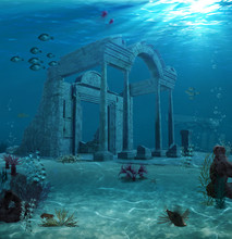 Ancient Atlantis Ruins Underwa...