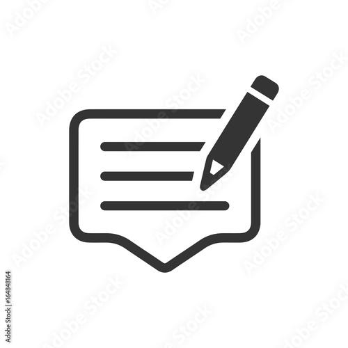 Write a Feedback Icon Canvas Print
