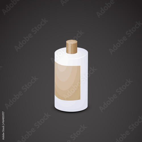 Photo  Shampoo vector icon. 3d model.