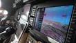 Private airplane cockpit - closeup of modern avionics (screen)