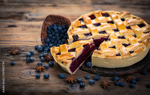 Fotomural Blueberry pie