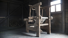 Old Age Wooden Loom Machine - ...