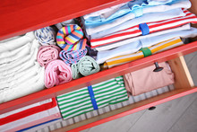 Chest Of Drawers With Clothes ...