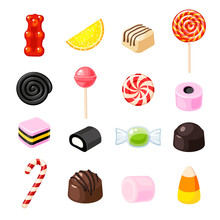 Set Single Cartoon Candies: Lo...