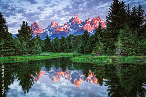 Schwabacher Landing, Tetons National Park Canvas Print