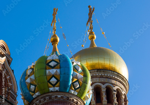 Tuinposter Barcelona Temple of the Savior on Blood - close-up view, St. Petersburg, Russia