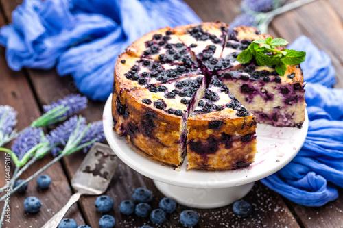 Fényképezés  Blueberry cheesecake