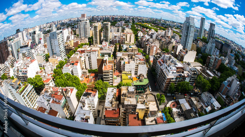 View of the skyline of Buenos Aires on a sunny day