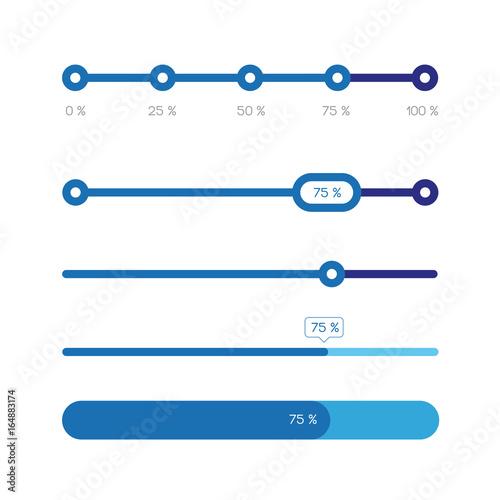 Canvastavla Percent progress bar set