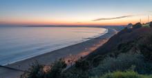 Sun Setting Over Bournemouth Beach