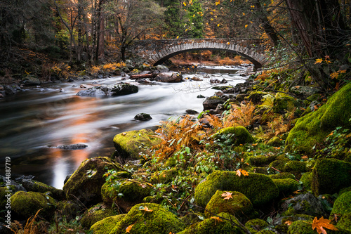 River flowing under Pohono Bridge, Yosemite National Park, California, America, USA