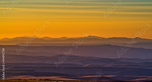 Haze in the Hills at Sunset Canvas Print