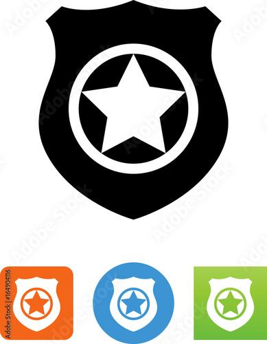Valokuva  Badge With Star Icon - Illustration