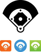 Baseball Diamond Icon - Illustration