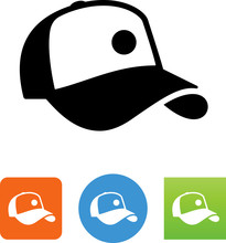 Baseball Hat Icon - Illustration